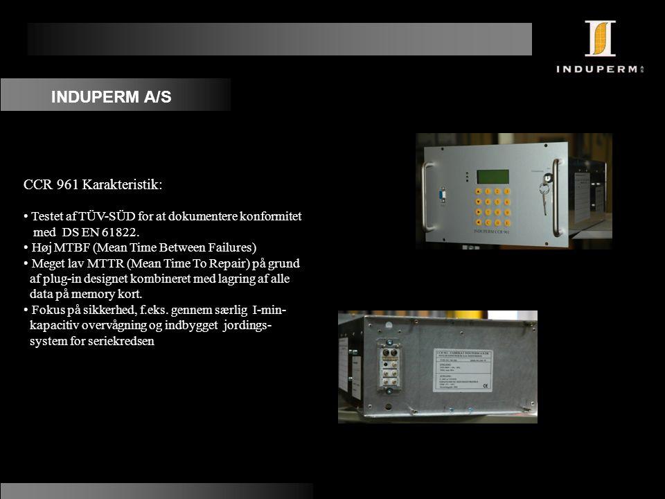 INDUPERM A/S CCR 961 Karakteristik: