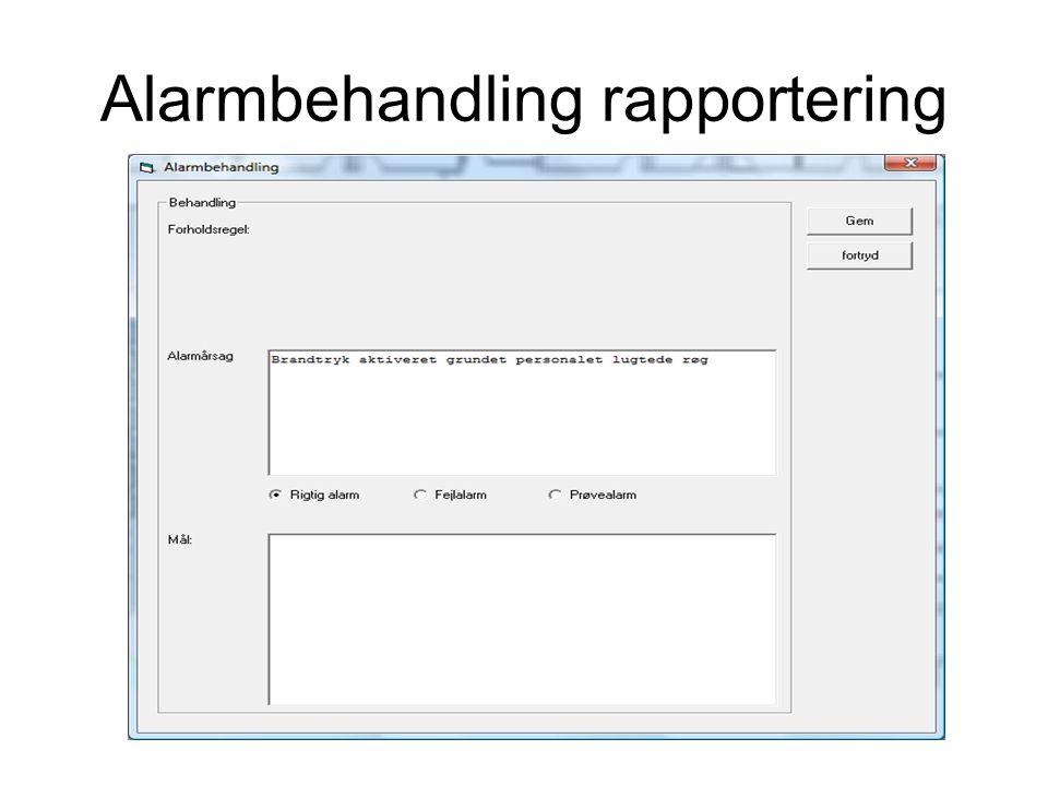 Alarmbehandling rapportering