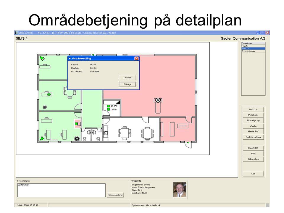 Områdebetjening på detailplan