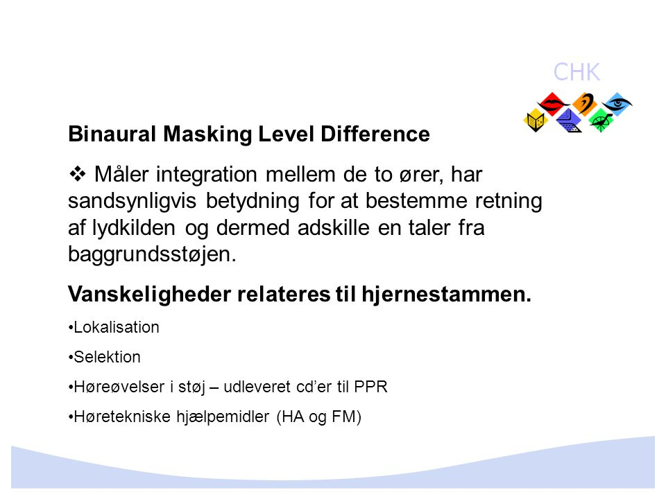 Binaural Masking Level Difference