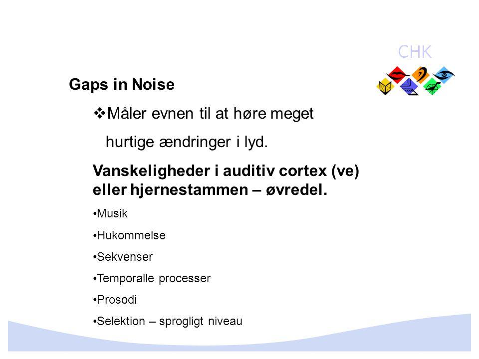 Måler evnen til at høre meget hurtige ændringer i lyd.