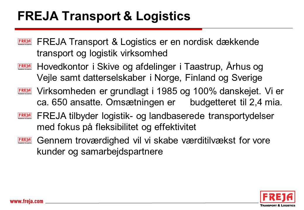 FREJA Transport & Logistics