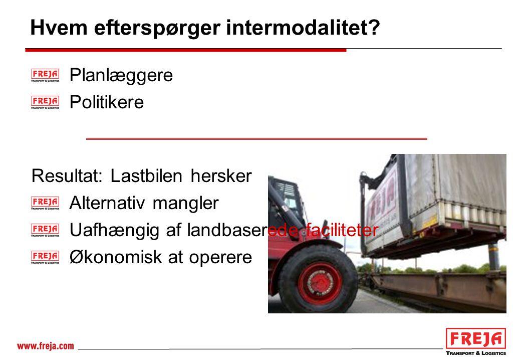 Hvem efterspørger intermodalitet
