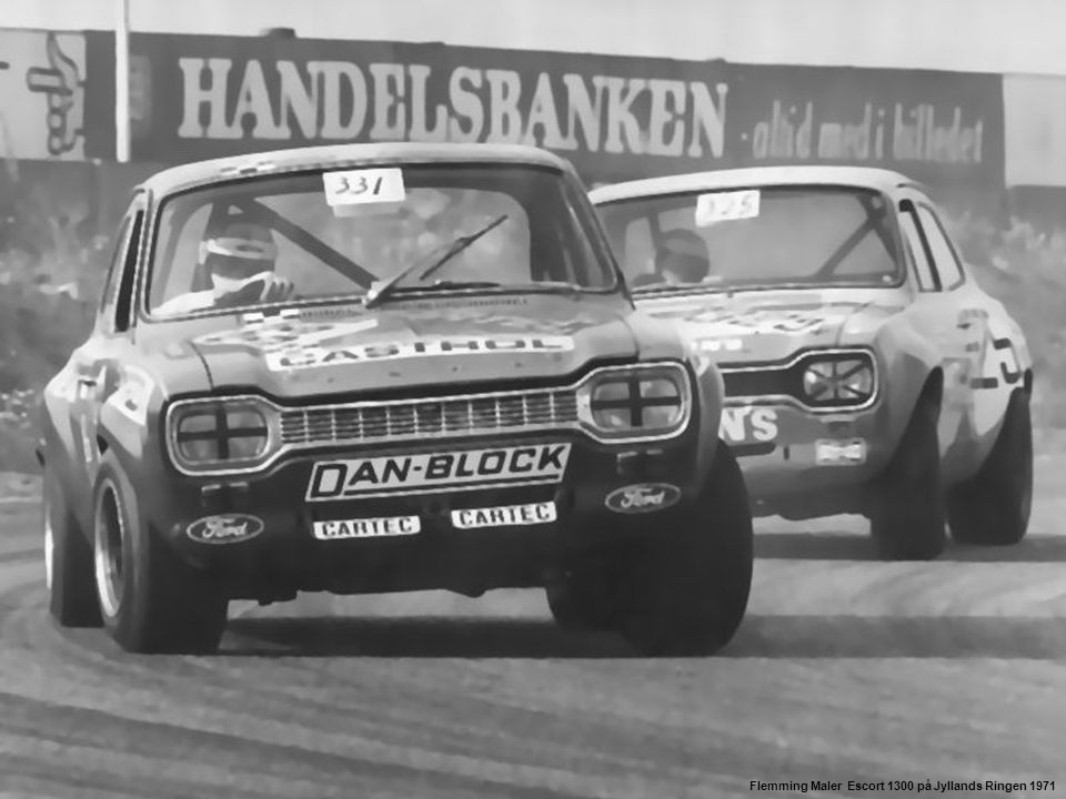 Flemming Maler Escort 1300 på Jyllands Ringen 1971