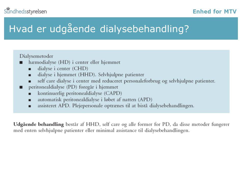 Hvad er udgående dialysebehandling