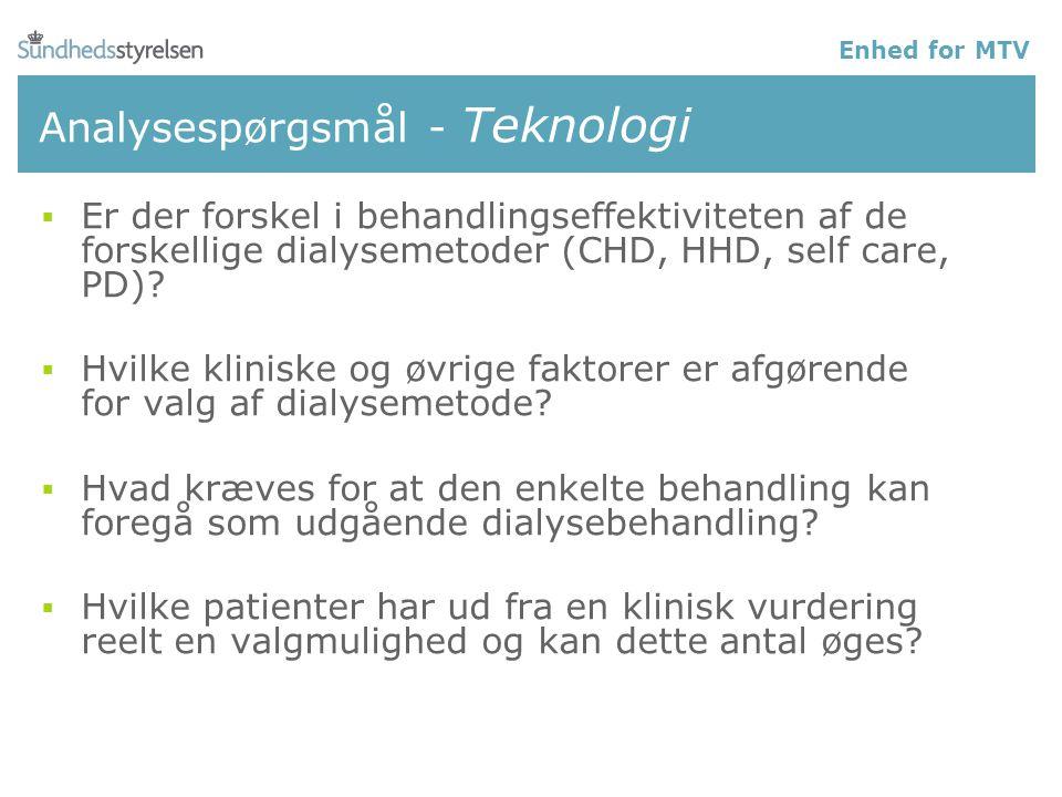 Analysespørgsmål - Teknologi