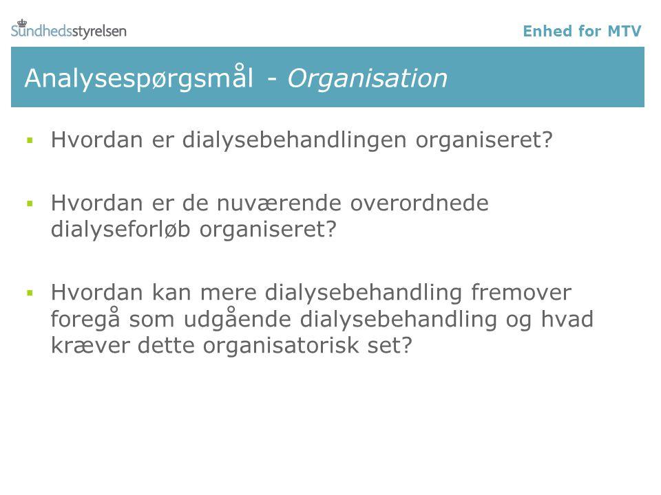 Analysespørgsmål - Organisation