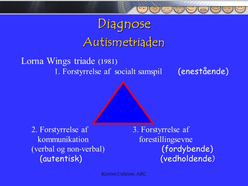 Diagnose Autismetriaden