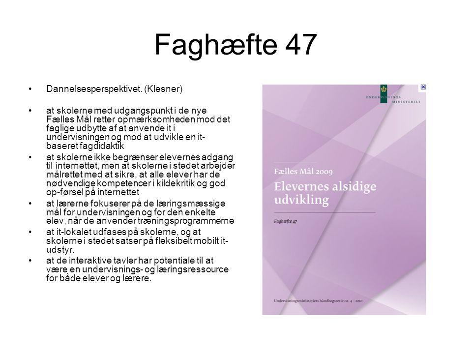 Faghæfte 47 Dannelsesperspektivet. (Klesner)