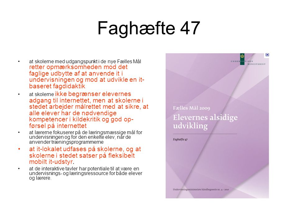 Faghæfte 47