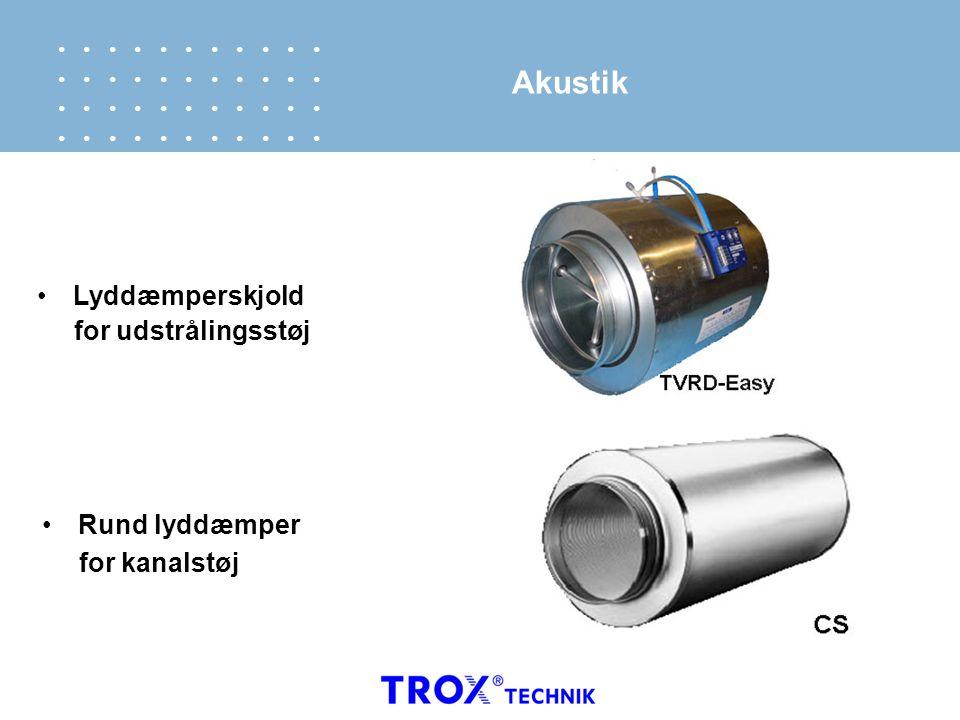 Akustik Lyddæmperskjold for udstrålingsstøj Rund lyddæmper