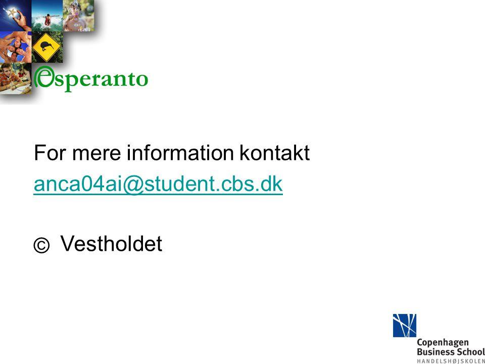 For mere information kontakt