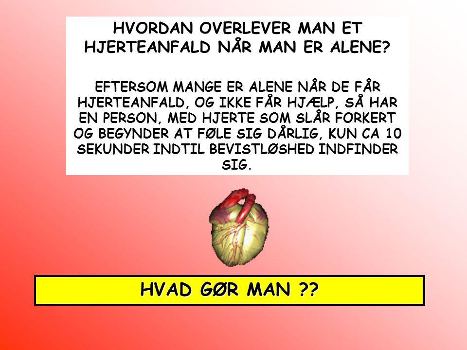 HVORDAN OVERLEVER MAN ET HJERTEANFALD NÅR MAN ER ALENE