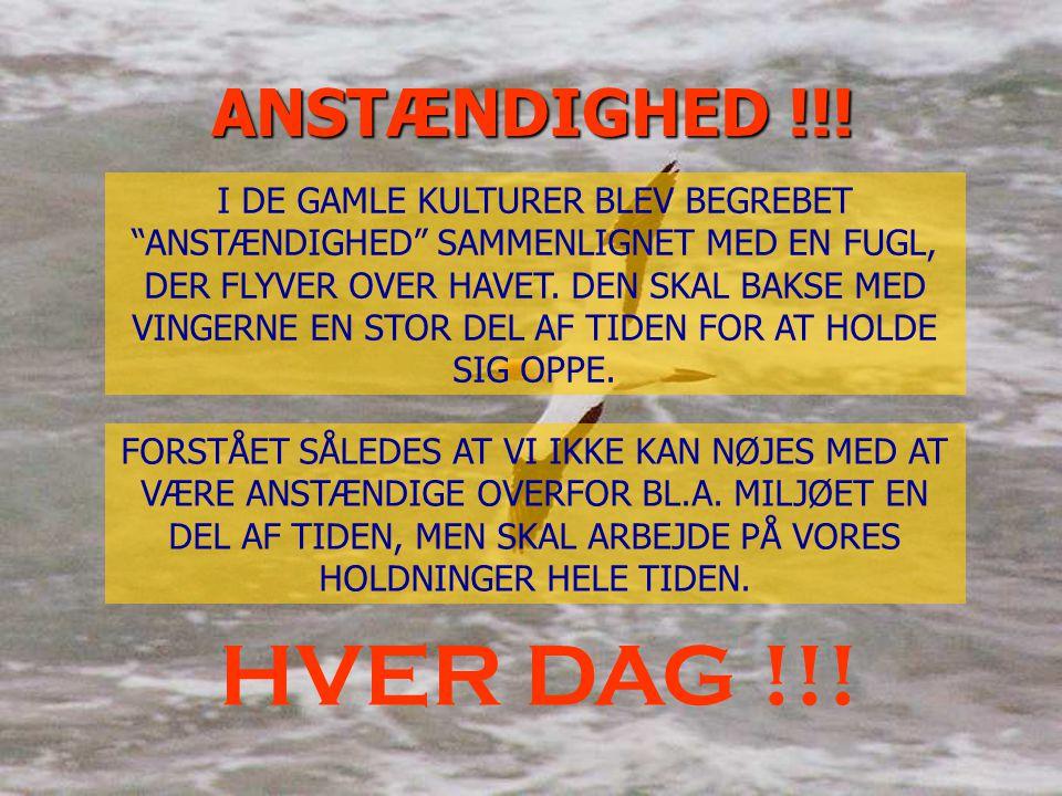 ANSTÆNDIGHED !!!