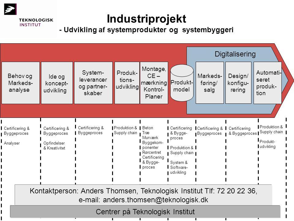- Udvikling af systemprodukter og systembyggeri