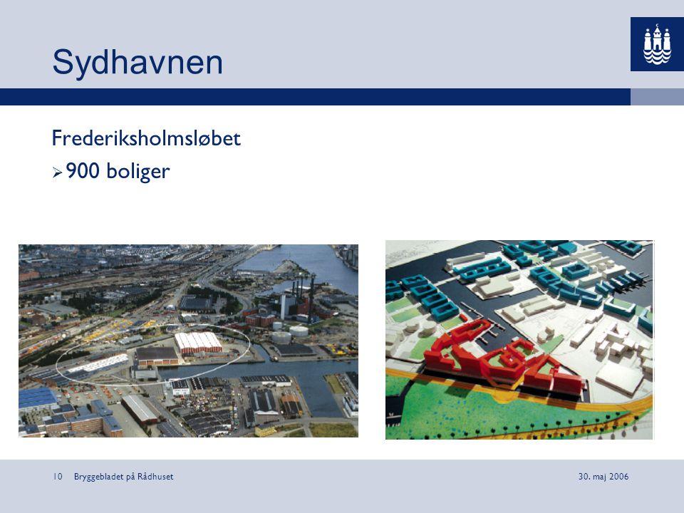 Sydhavnen Frederiksholmsløbet 900 boliger Bryggebladet på Rådhuset