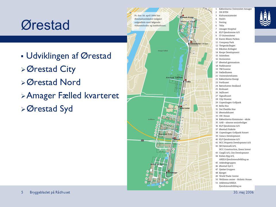 Ørestad Udviklingen af Ørestad Ørestad City Ørestad Nord