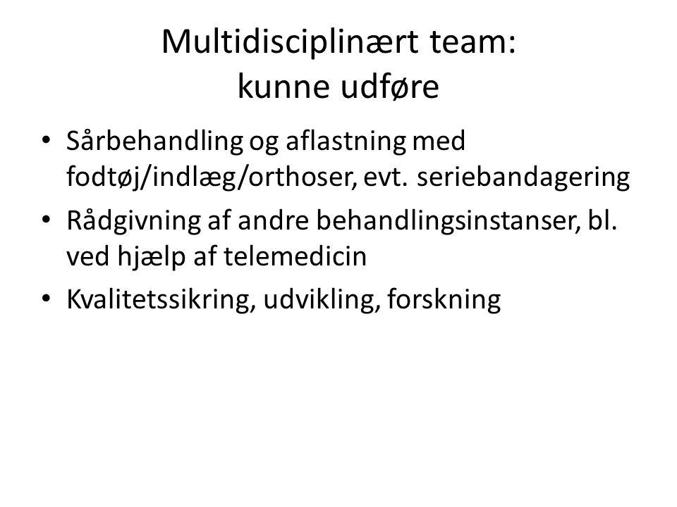 Multidisciplinært team: kunne udføre