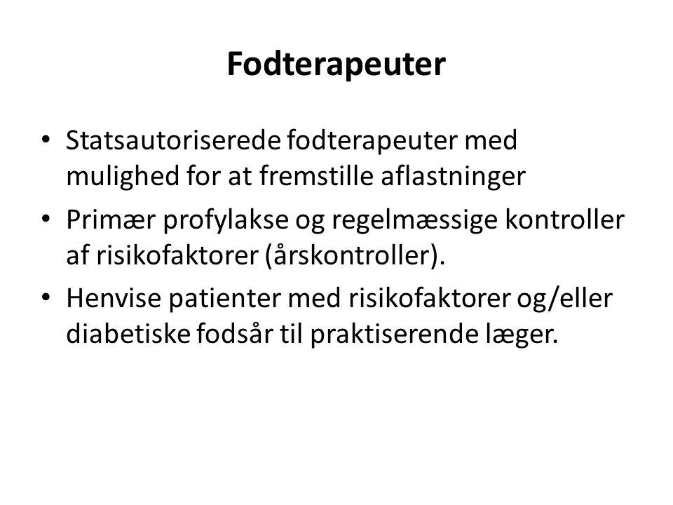 Fodterapeuter Statsautoriserede fodterapeuter med mulighed for at fremstille aflastninger.