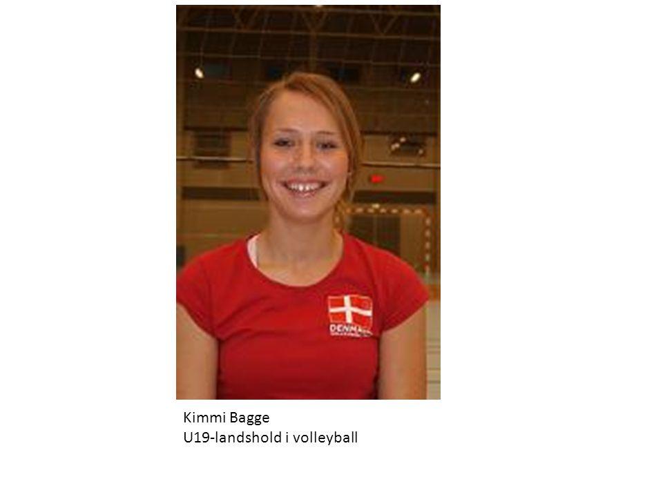 Kimmi Bagge U19-landshold i volleyball