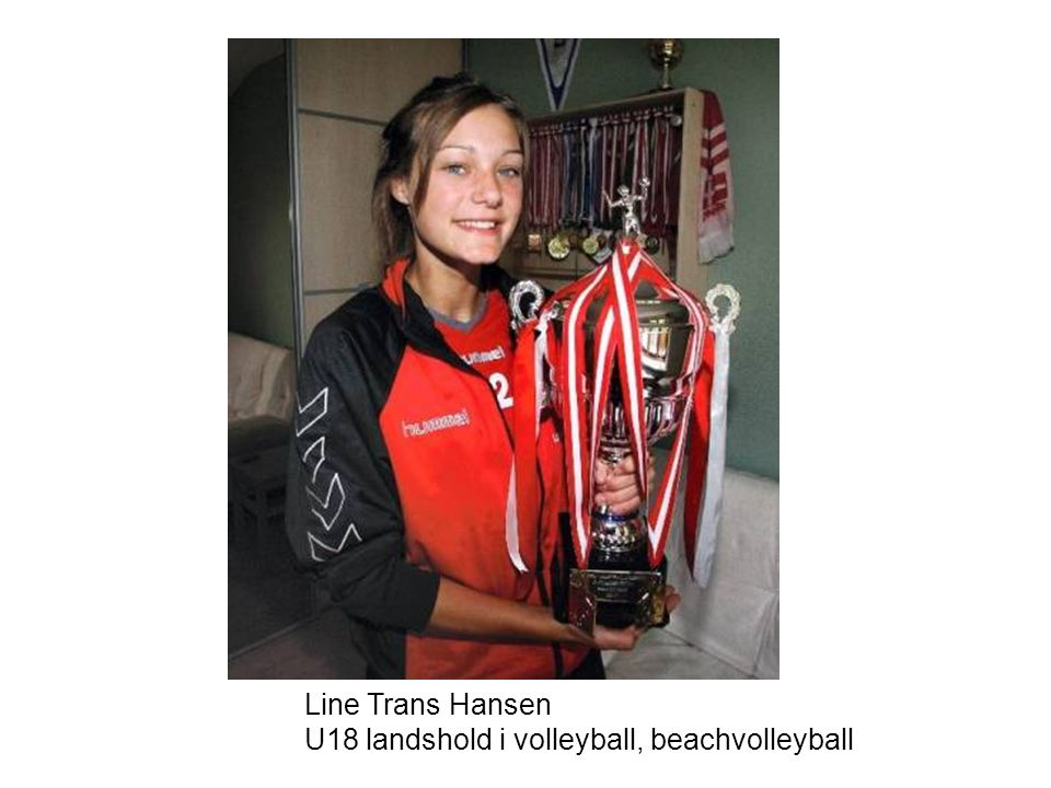 Line Trans Hansen U18 landshold i volleyball, beachvolleyball