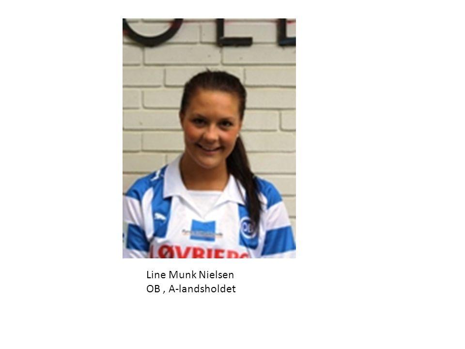 Line Munk Nielsen OB , A-landsholdet