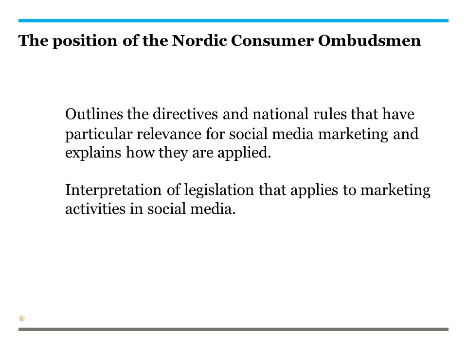 The position of the Nordic Consumer Ombudsmen