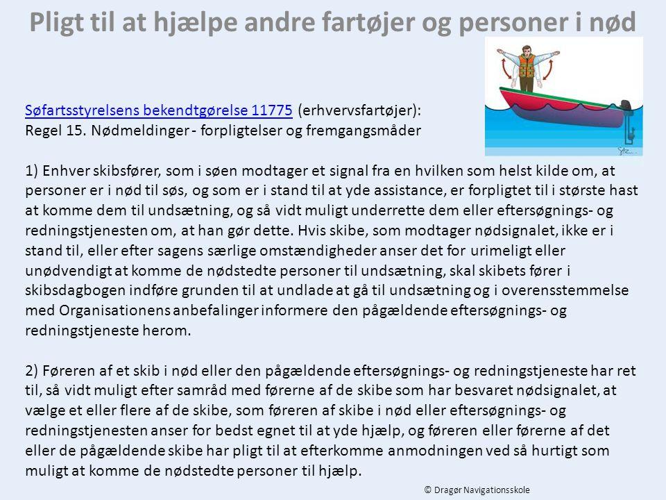 Pligt til at hjælpe andre fartøjer og personer i nød
