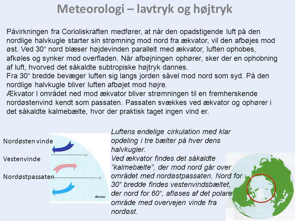 Meteorologi – lavtryk og højtryk