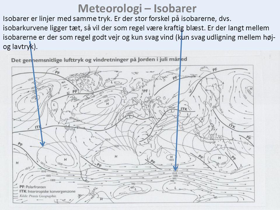Meteorologi – Isobarer