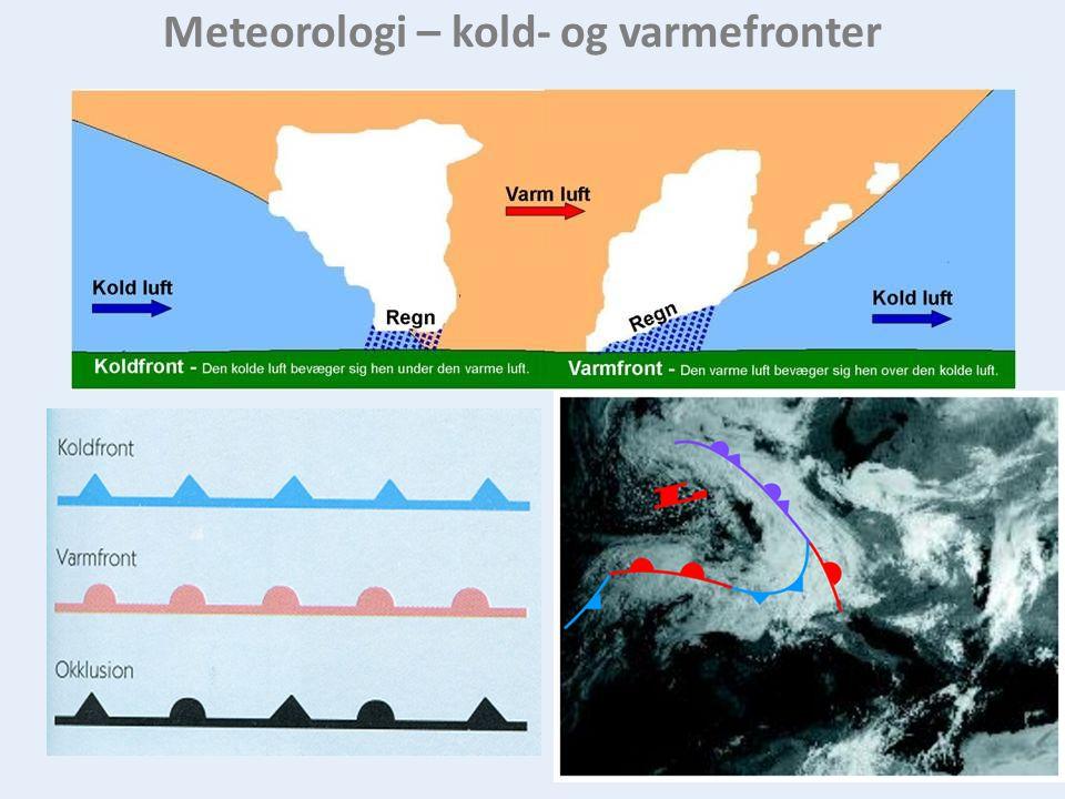 Meteorologi – kold- og varmefronter