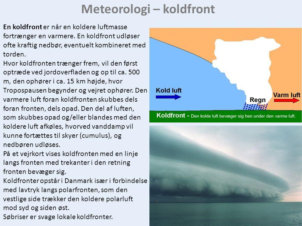 Meteorologi – koldfront