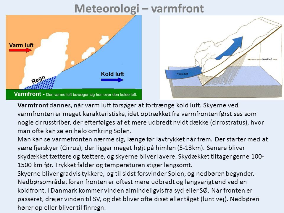 Meteorologi – varmfront