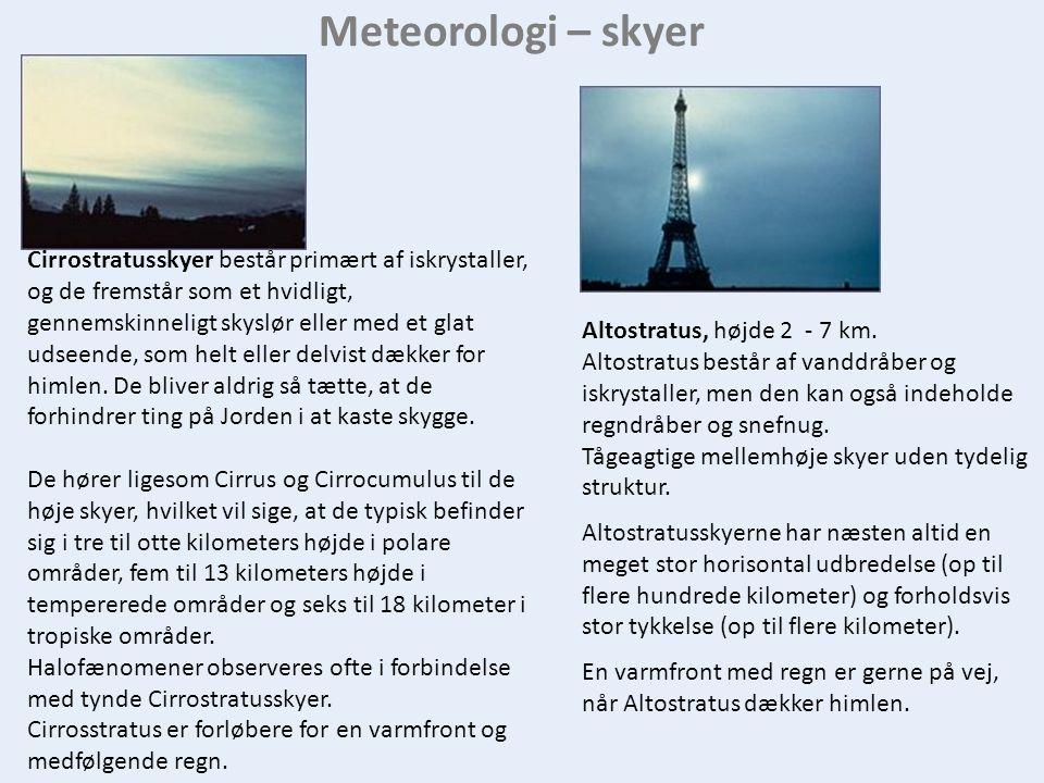 Meteorologi – skyer