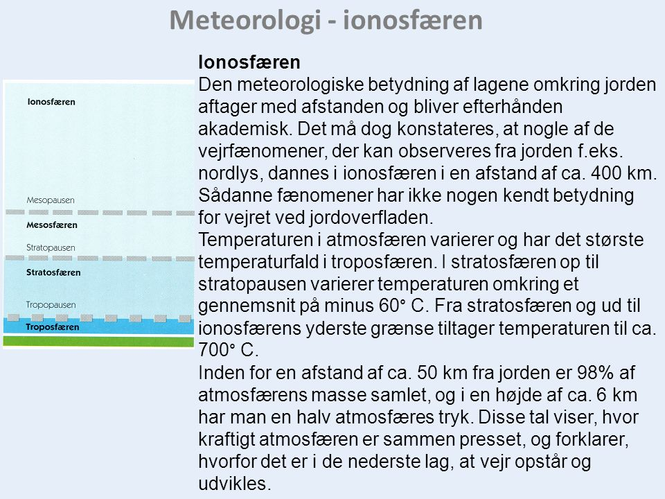 Meteorologi - ionosfæren