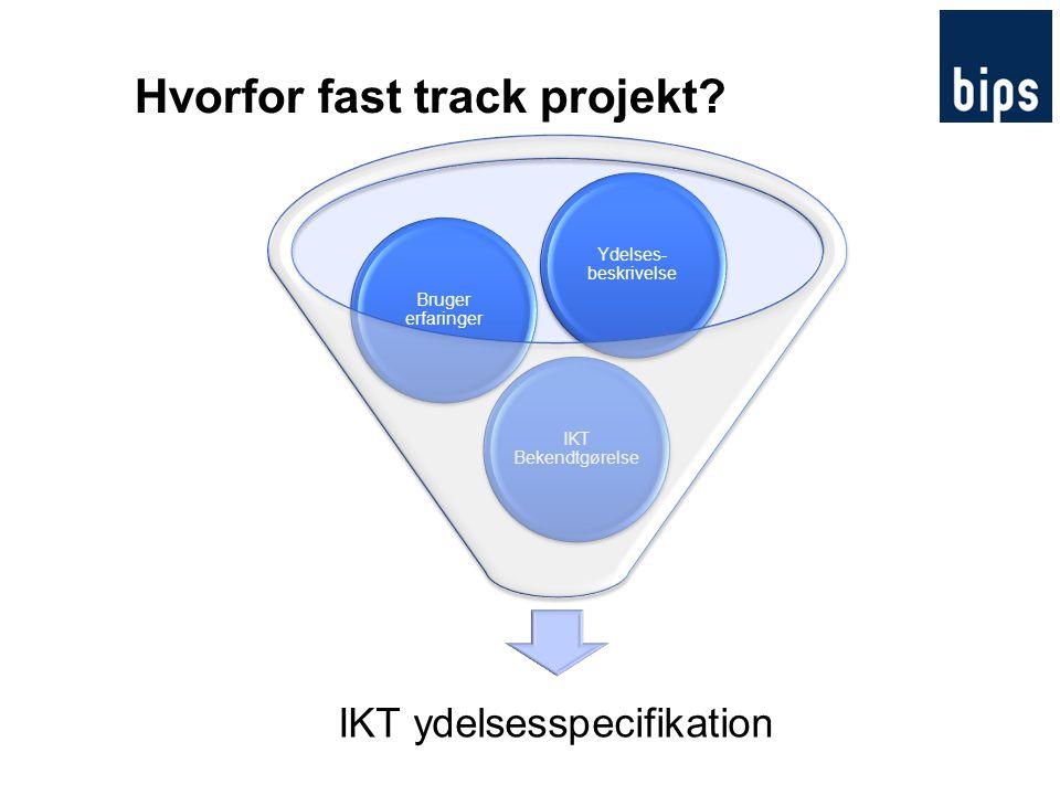 Hvorfor fast track projekt