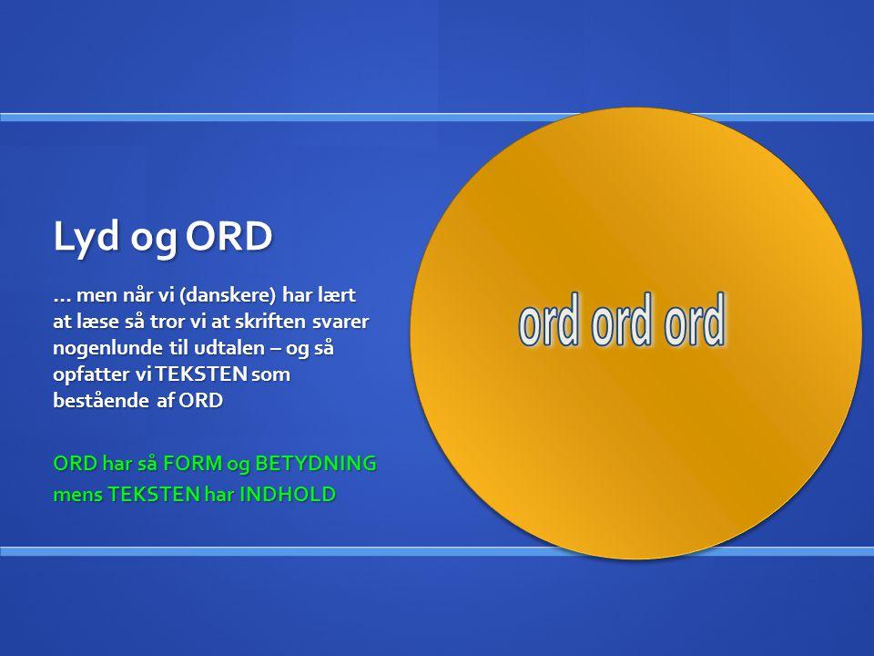 Lyd og ORD