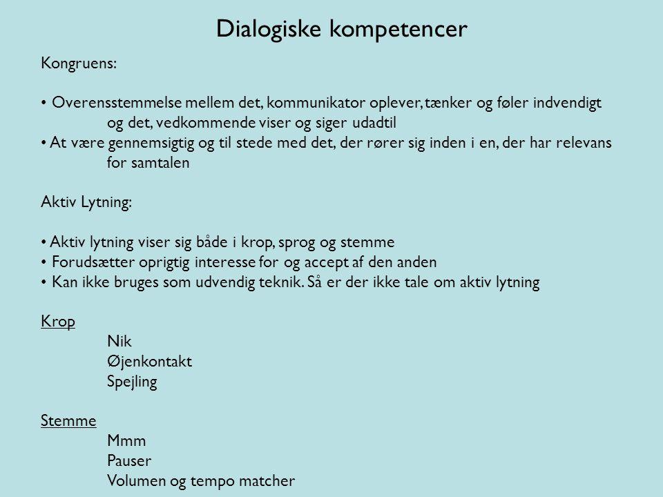Dialogiske kompetencer