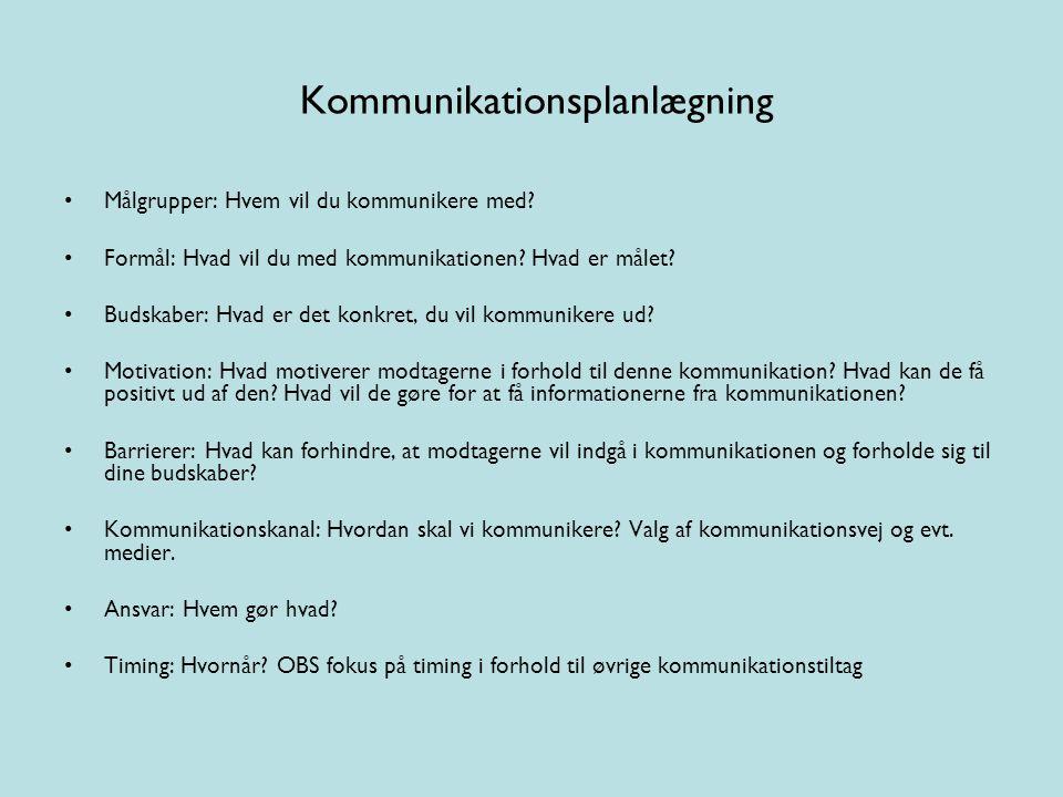 Kommunikationsplanlægning