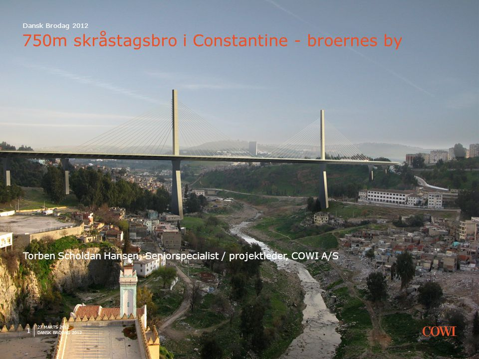 750m skråstagsbro i Constantine - broernes by