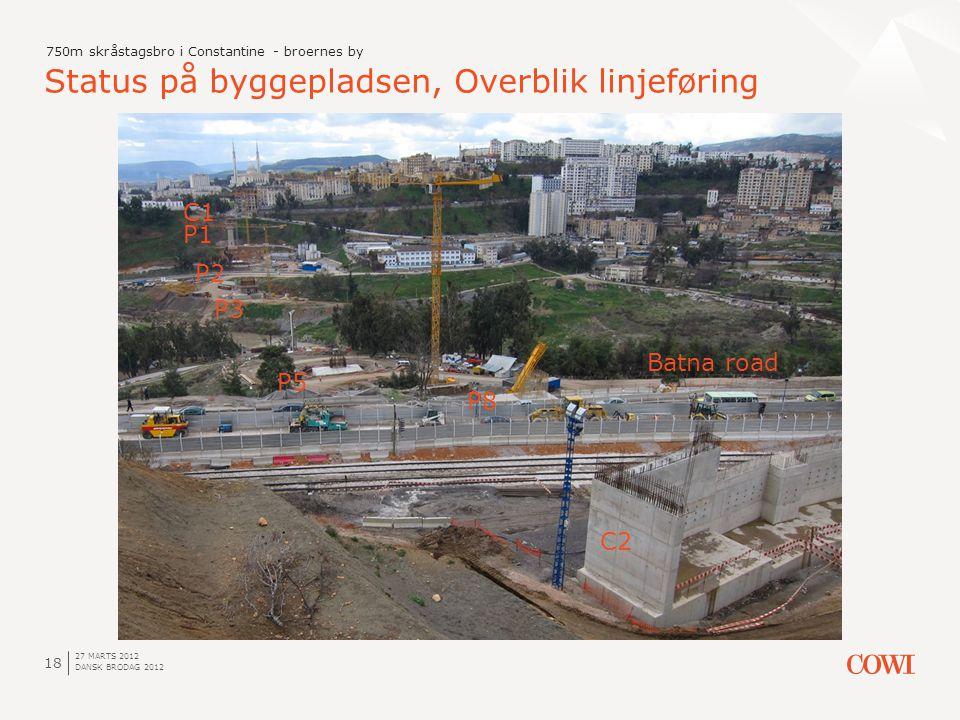 Status på byggepladsen, Overblik linjeføring