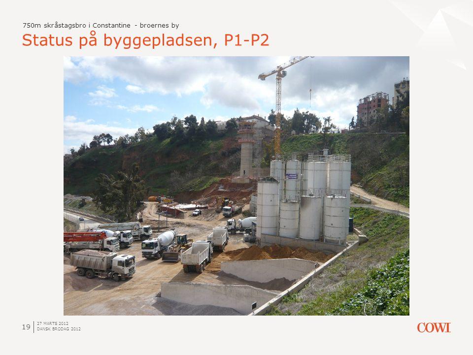 Status på byggepladsen, P1-P2