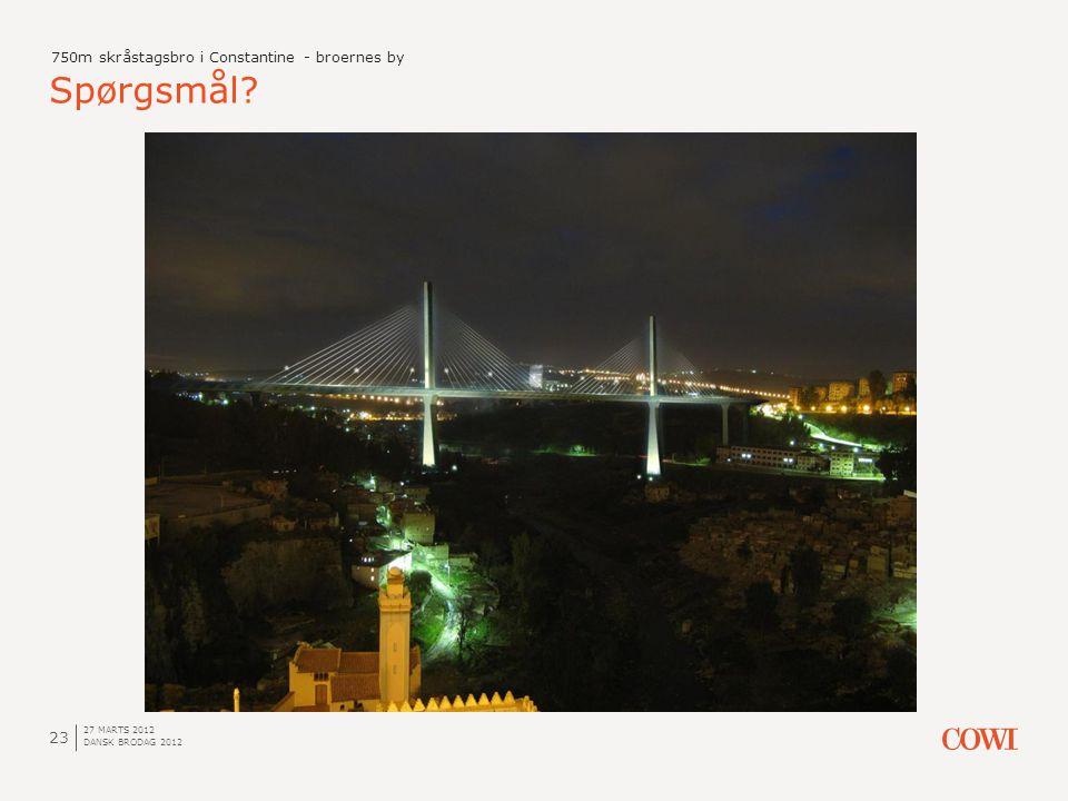 Spørgsmål 750m skråstagsbro i Constantine - broernes by 27 marts 2012