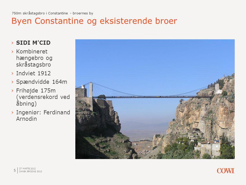 Byen Constantine og eksisterende broer