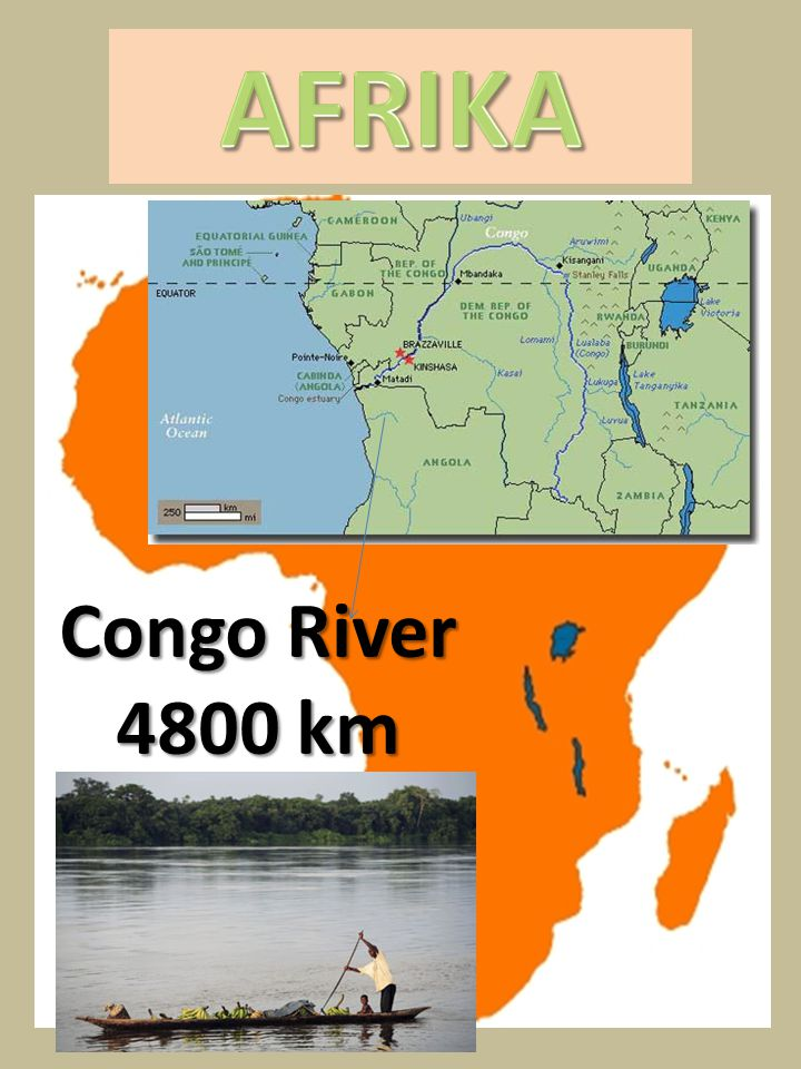 AFRIKA Congo River 4800 km