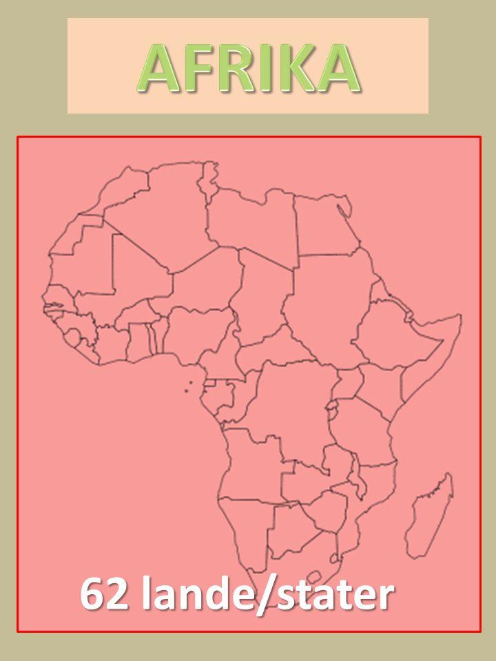 AFRIKA 62 lande/stater