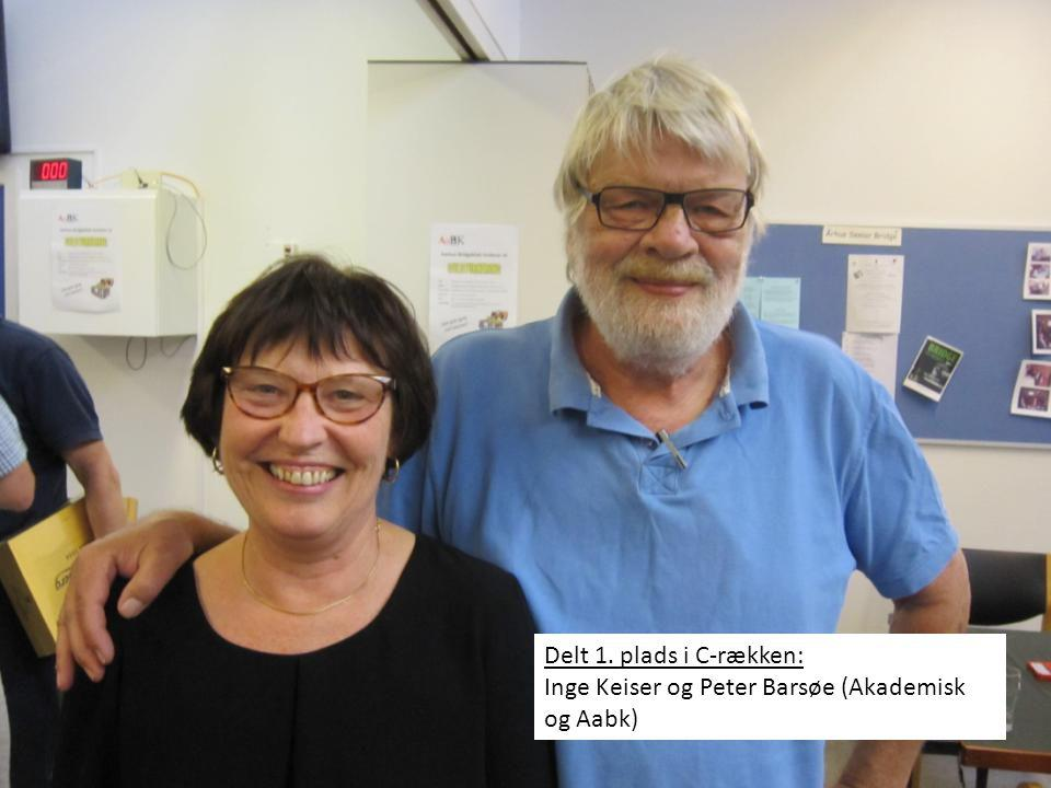 Delt 1. plads i C-rækken: Inge Keiser og Peter Barsøe (Akademisk og Aabk)