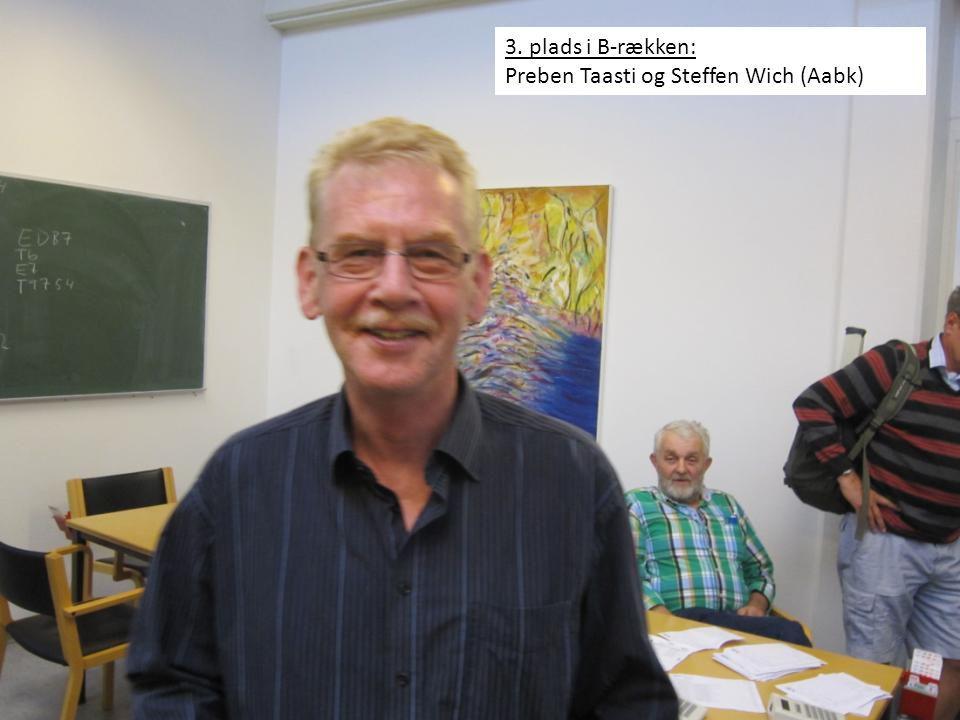 3. plads i B-rækken: Preben Taasti og Steffen Wich (Aabk)