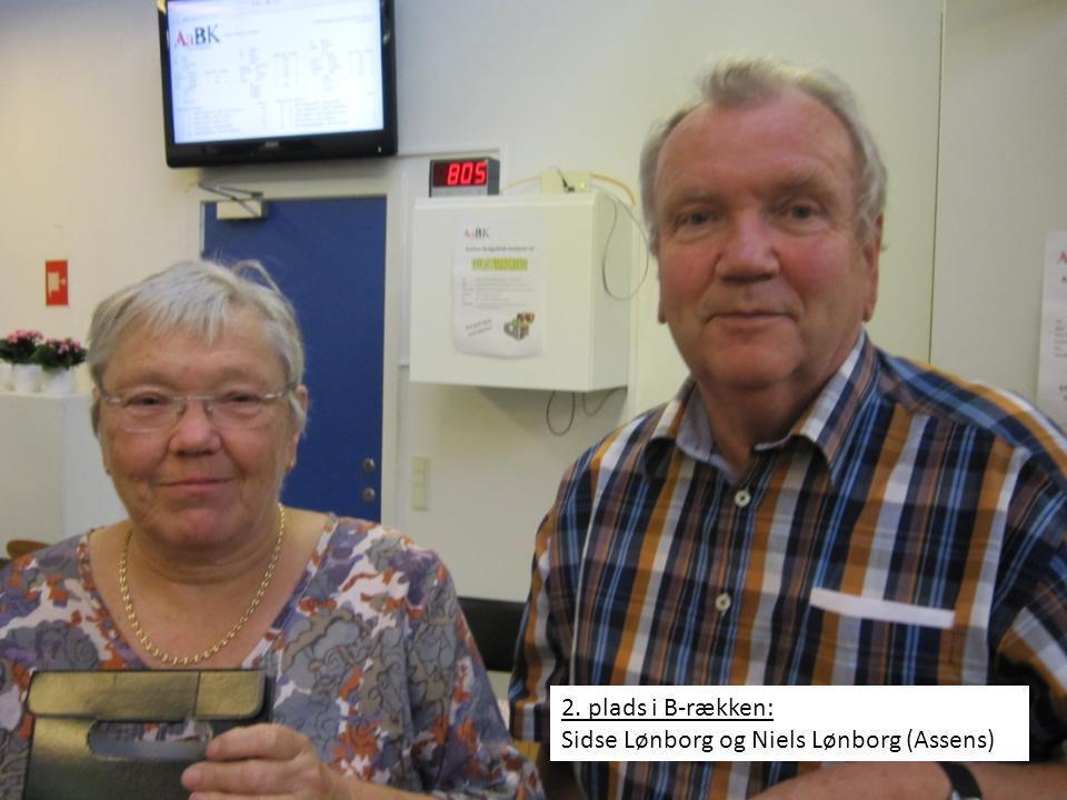 2. plads i B-rækken: Sidse Lønborg og Niels Lønborg (Assens)