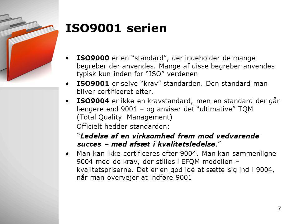 ISO9001 serien